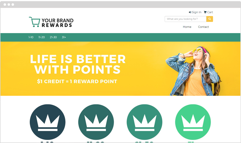 Rewards Company Store Example